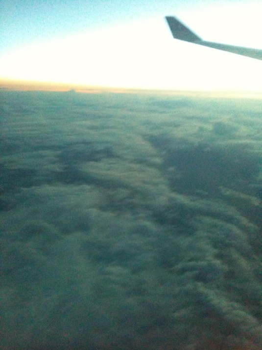That moment when you're above the clouds.